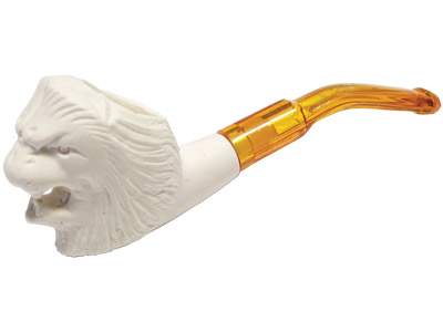 MPS019 - Mini Lion Meerschaum Tobacco Pipe