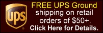 Click here to learn how to get FREE UPS shipping on your retail orders of $50 or more