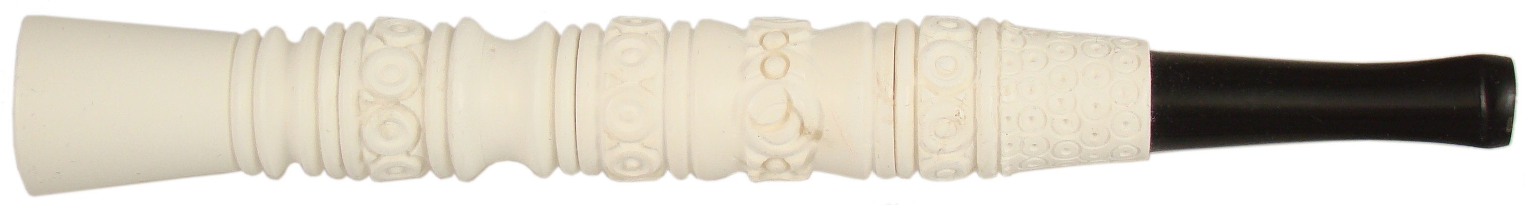 CIG03 - 3 Section Meerschaum Tobacco Cigarette Holder / Bat