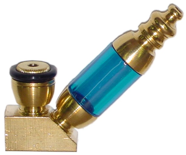CMB01 - Brass Tobacco Pipe with Acrylic Chamber and Elbow
