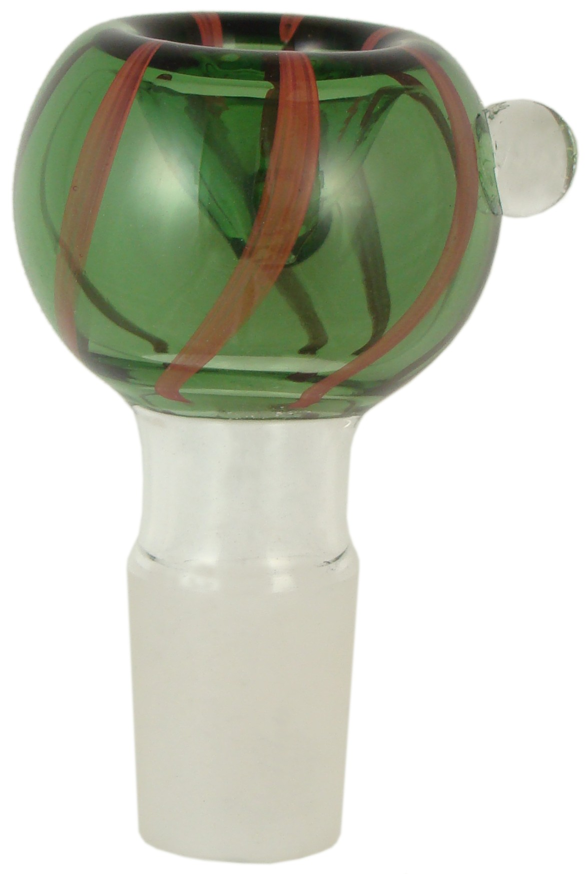 HKB144B - 19mm Green GOG Tobacco Hookah Bowl w/Rod Work & Marble
