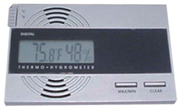 HYG04B - Silver Digital Combo Hygrometer & Thermometer