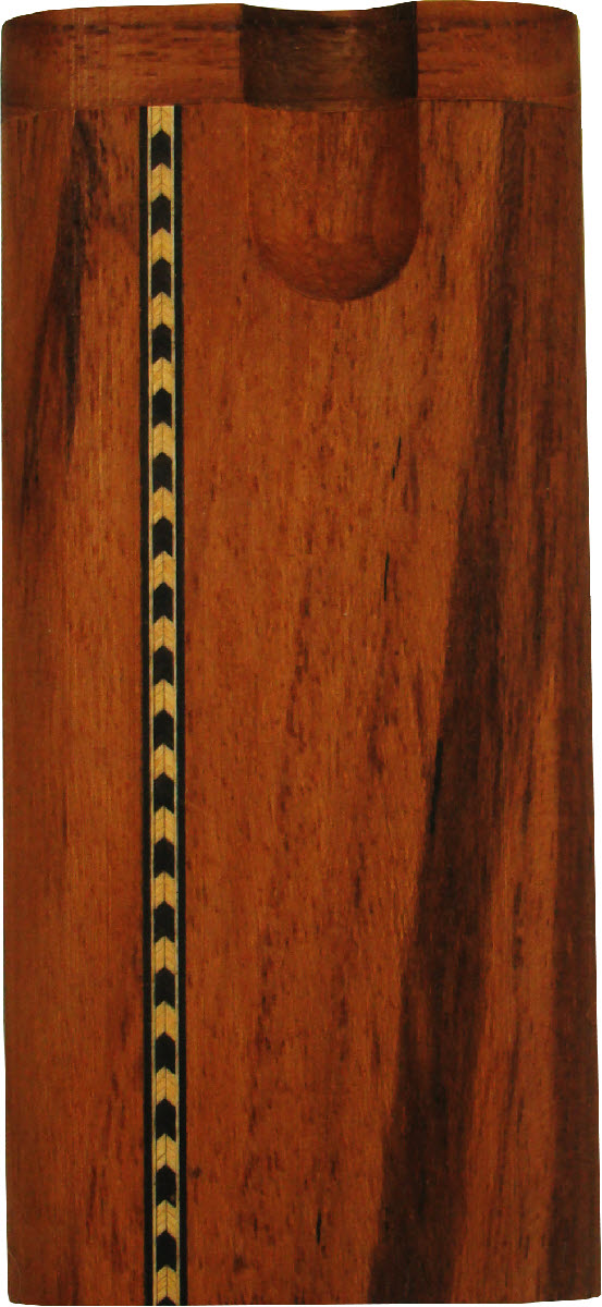 PTB35 - Standard Twist Teak Inlay Tobacco Box