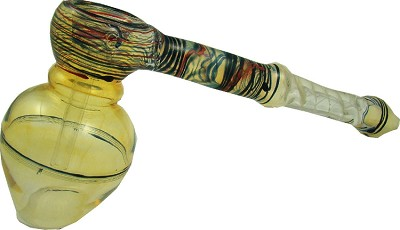 GBL01B - Hammer Style Tobacco Bubbler with Twisted Stem