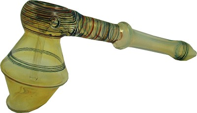 GBL01C - Hammer Style Tobacco Bubbler with Ridges