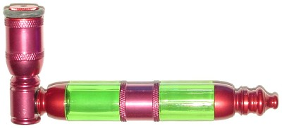 CMA09 - Anodized Tobacco Pipe with Metal and Acrylic Chamber
