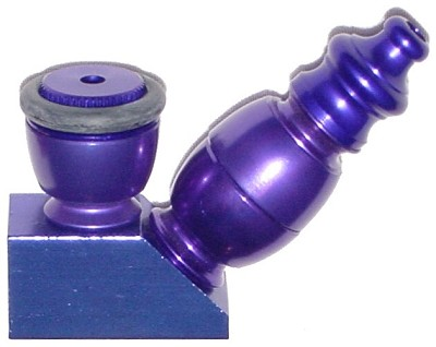 CMA16 - Anodized Tobacco Pipe with Metal Chamber and Elbow