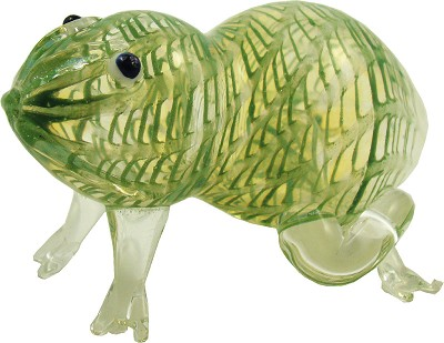 "GHA20 - 3.5"" Frog Glass Tobacco Pipe"