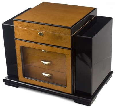HUM017 - 200 Cigar, 3 Drawer Humidor