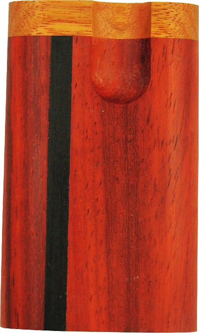 PTB16S - Compact Twist Vermillion w/Ebony Inlay Tobacco Box