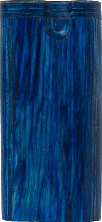 PTB89C - Standard Twist Blue Rainbow Wood Tobacco Box